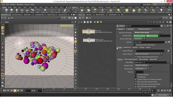 Working with the Mantra rendering node: Up and Running with Houdini