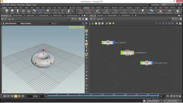 How to emit particles from an object: Up and Running with Houdini
