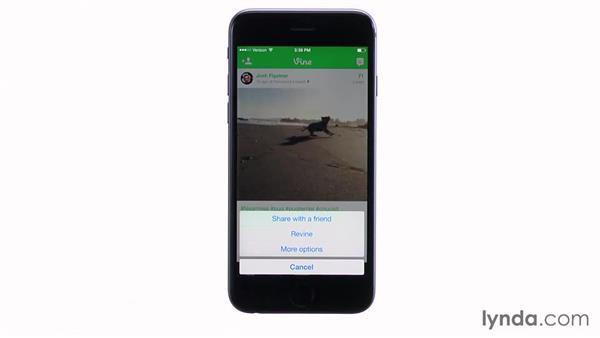 Revining a video someone else has posted: Up and Running with Vine