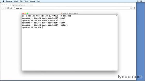 Starting Apache on Mac OS X: Installing Apache, MySQL, and PHP (2015)