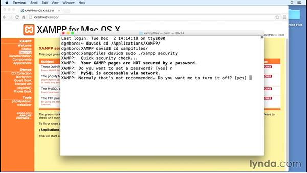 Managing XAMPP security on Mac OS X: Installing Apache, MySQL, and PHP