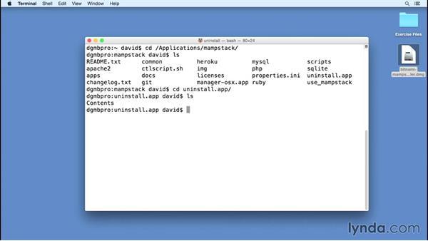 Uninstalling Bitnami for Mac OS X: Installing Apache, MySQL, and PHP