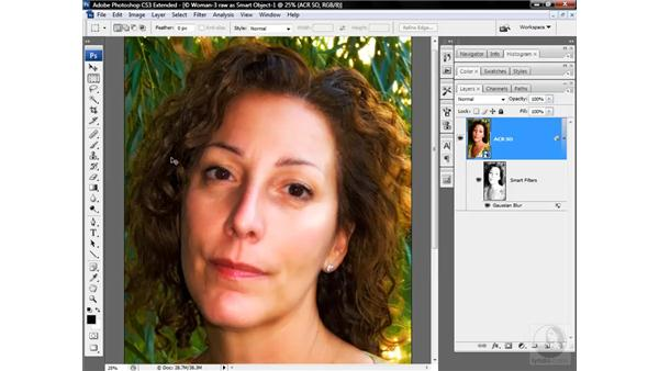 Lab and Camera Raw with a raw photograph: Photoshop CS3 Mastering Lab Color