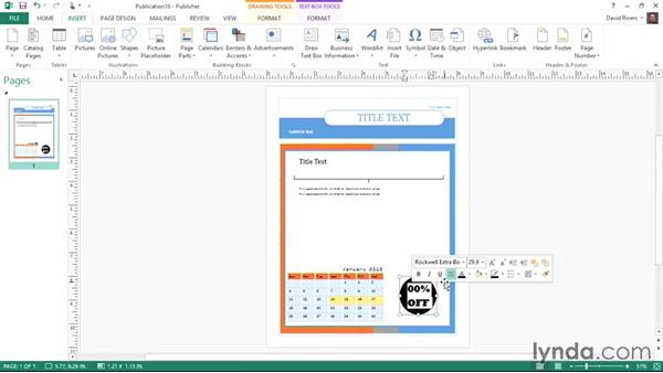 Using building blocks: Publisher 2013 Essential Training