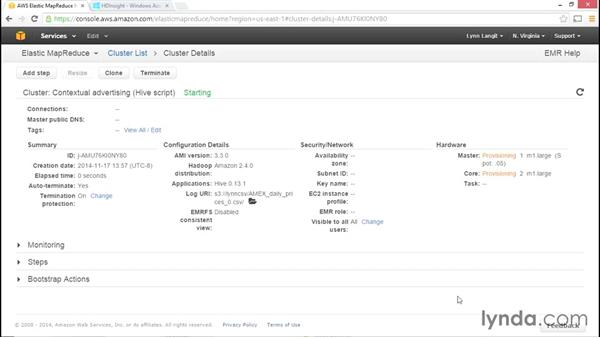 Using Amazon Web Services (AWS) and Microsoft cloud-hosted Hadoop: Hadoop Fundamentals