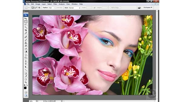 Examining RGB and CMYK channels: Photoshop CS3 Mastering Lab Color