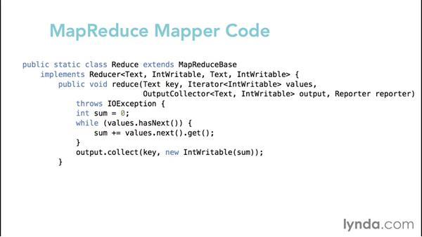 Reviewing the code for a MapReduce WordCount job: Hadoop Fundamentals