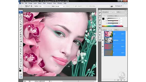 How channels blend in Lab: Photoshop CS3 Mastering Lab Color