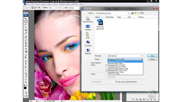 Saving a Lab image file: Photoshop CS3 Mastering Lab Color