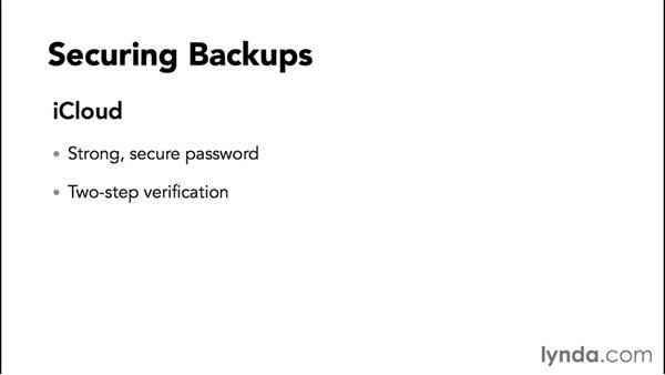 Protecting backup data: iPhone and iPad Security Fundamentals
