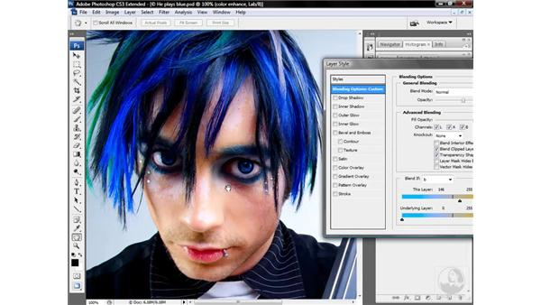 Dropping out the blues: Photoshop CS3 Mastering Lab Color