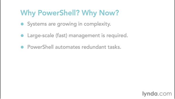 Why PowerShell? Why now?: Up and Running with PowerShell 5