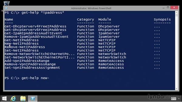 Discovering commands: Up and Running with PowerShell 5