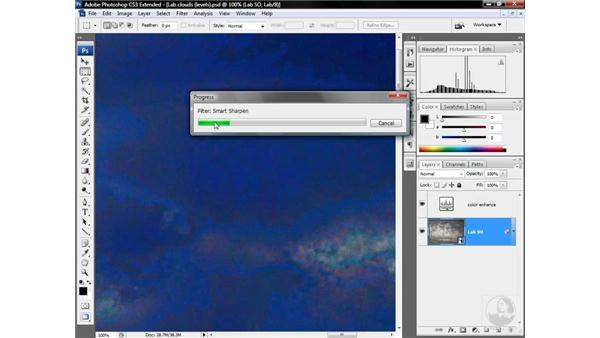 Sharpening the Lightness channel: Photoshop CS3 Mastering Lab Color