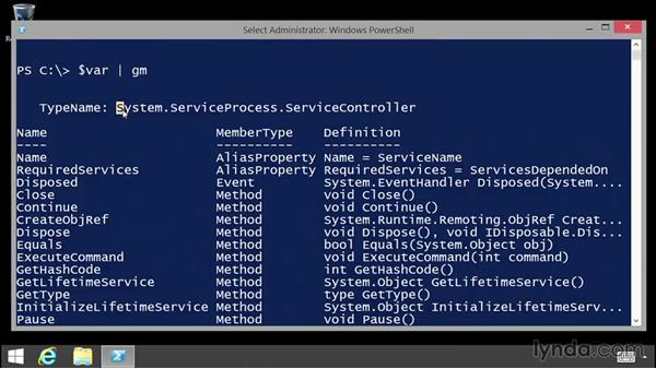 Using variables for storage: Up and Running with PowerShell 5