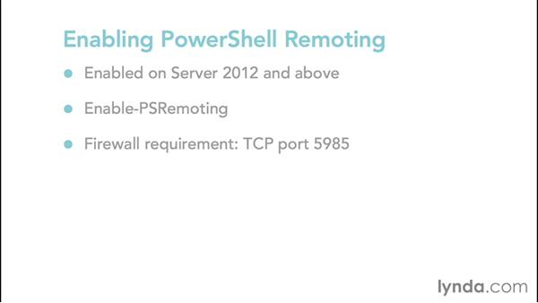 Enabling PowerShell remoting: Up and Running with PowerShell 5
