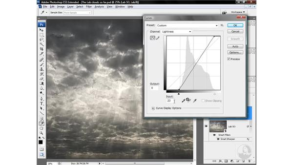 Finessing the Lightness channel with Curves: Photoshop CS3 Mastering Lab Color