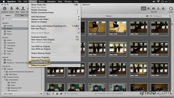 Updating Aperture previews: Migrating from Aperture to Lightroom