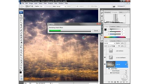 Sharpening for effect, blurring away noise: Photoshop CS3 Mastering Lab Color