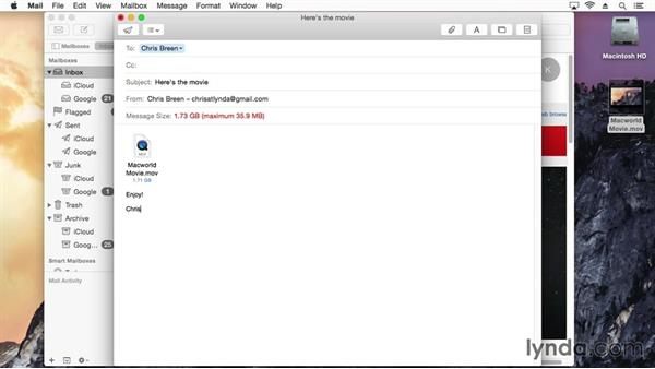Send huge email attachments with Mail Drop: Mac OS X Yosemite Tips and Tricks