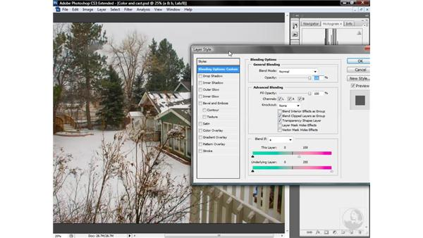Fading the oranges and reds: Photoshop CS3 Mastering Lab Color