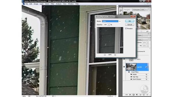 Reducing color noise with Median: Photoshop CS3 Mastering Lab Color