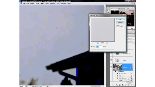Protecting the sky with a density mask: Photoshop CS3 Mastering Lab Color