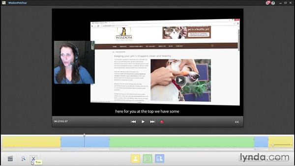 Editing video: Up and Running with Adobe Presenter 10