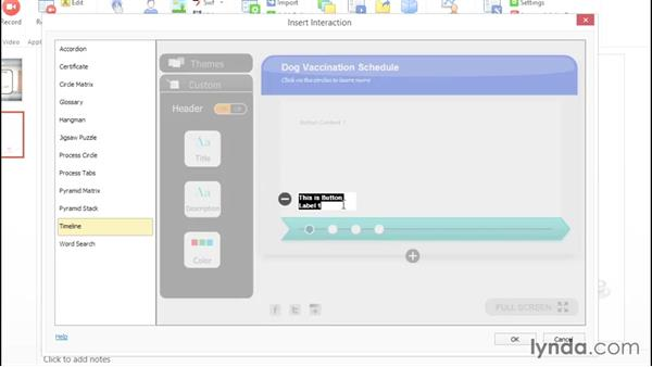 Adding an interaction: Up and Running with Adobe Presenter 10