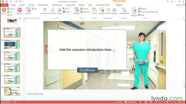 Utilizing a scenario interaction: Up and Running with Adobe Presenter 10