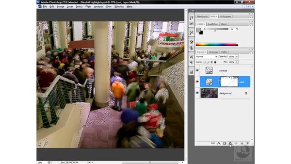 Masking away aberrant hues: Photoshop CS3 Mastering Lab Color