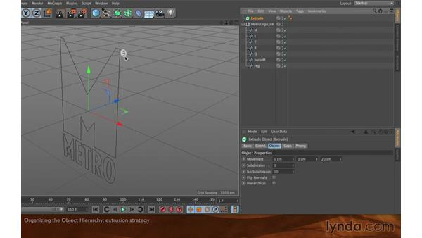 Organizing the object hierarchy: Creating Flying Logos with After Effects and CINEMA 4D Lite