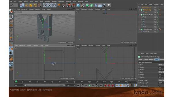 Alternate view in C4D: Creating Flying Logos with After Effects and CINEMA 4D Lite