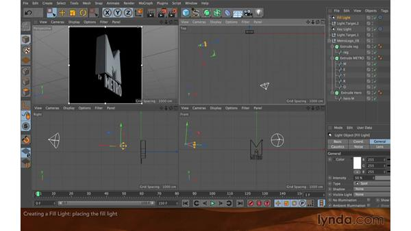 Creating a fill light: Creating Flying Logos with After Effects and CINEMA 4D Lite