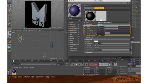 Creating a basic material: Creating Flying Logos with After Effects and CINEMA 4D Lite