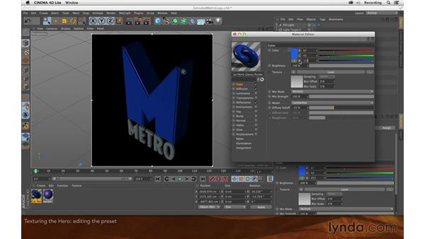 Texturing the hero object: Creating Flying Logos with After Effects and CINEMA 4D Lite