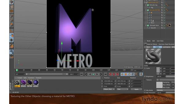 Texturing the other objects: Creating Flying Logos with After Effects and CINEMA 4D Lite