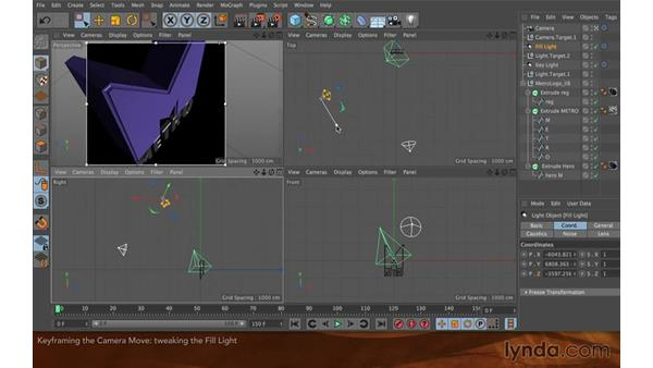 Keyframing the camera move: Creating Flying Logos with After Effects and CINEMA 4D Lite