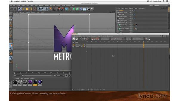 Refining the camera move: Creating Flying Logos with After Effects and CINEMA 4D Lite
