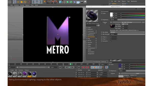 Fake environment lighting: Creating Flying Logos with After Effects and CINEMA 4D Lite