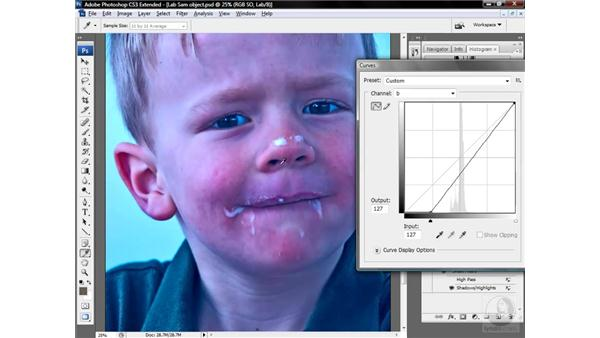 Correcting color cast and contrast: Photoshop CS3 Mastering Lab Color
