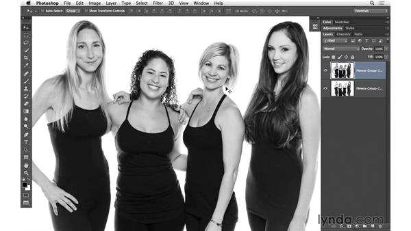 Selecting and copying a new face: Portrait Project: Fixing a Group Photo