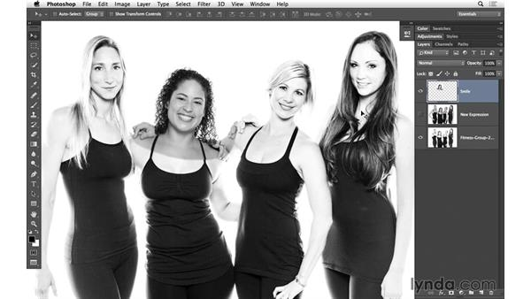 Brightening with curves: Portrait Project: Fixing a Group Photo