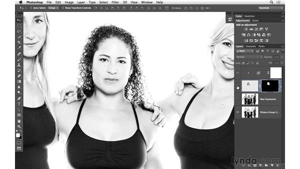 Seamlessly combine the two images, with masking: Portrait Project: Fixing a Group Photo