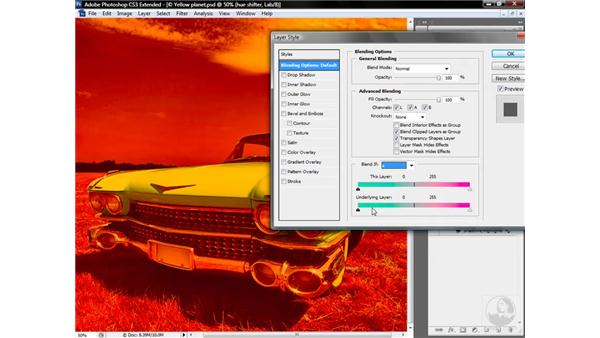 Blending colors with Underlying Layer: Photoshop CS3 Mastering Lab Color
