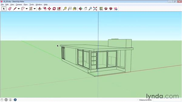 Shading faces and edges: SketchUp 2015 Essential Training