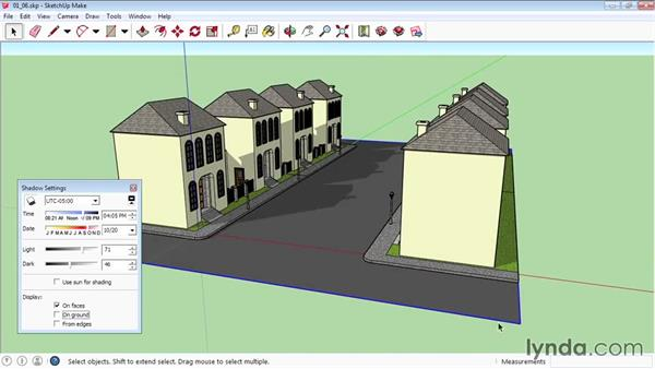 Creating shadows and fog: SketchUp 2015 Essential Training