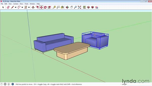 Selecting and moving objects: SketchUp 2015 Essential Training