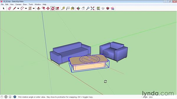 Scaling and rotating objects: SketchUp 2015 Essential Training