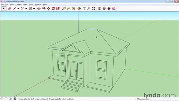 Manipulating faces and edges: SketchUp 2015 Essential Training